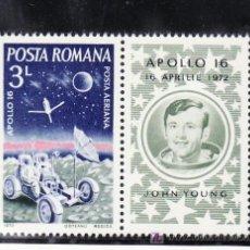 Timbres: RUMANIA A 233 SIN CHARNELA, ESPACIO, APOLO 16,. Lote 13912772