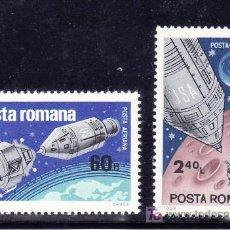 Sellos: RUMANIA A 219/20 SIN CHARNELA, ESPACIO, VUELOS APOLO 9 Y APOLO 10,. Lote 151163506