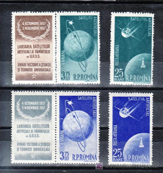 RUMANIA A 69/72 SIN CHARNELA, ESPACIO, SATELITE ARTIFICIALES, (Sellos - Extranjero - Europa - Rumanía)