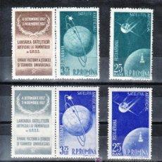 Sellos: RUMANIA A 69/72 SIN CHARNELA, ESPACIO, SATELITE ARTIFICIALES, . Lote 21681158