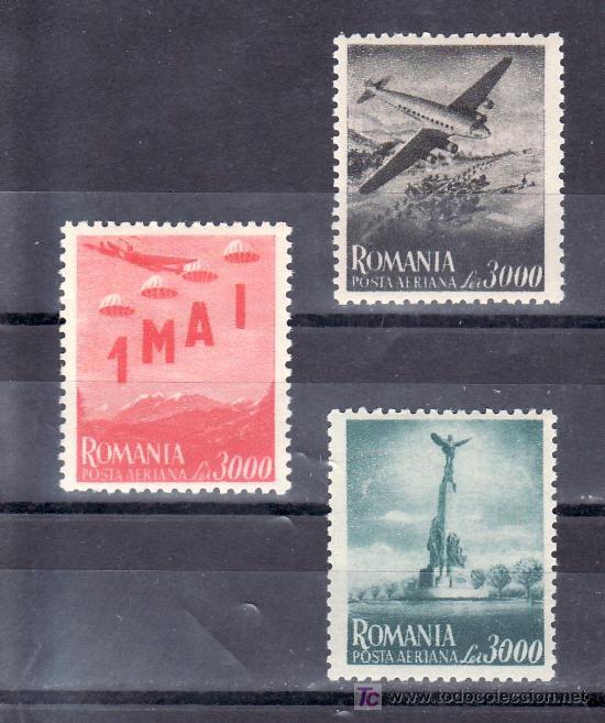 RUMANIA A 39/41 CON CHARNELA, AVION, CONMEMORACION DEL 1º DE MAYO (Sellos - Extranjero - Europa - Rumanía)