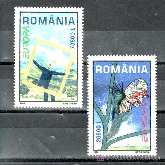 RUMANIA 4815/6 SIN CHARNELA, TEMA EUROPA, EL ARTE DEL CARTEL (Sellos - Extranjero - Europa - Rumanía)