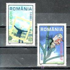 Sellos: RUMANIA 4815/6 SIN CHARNELA, TEMA EUROPA, EL ARTE DEL CARTEL. Lote 18355027