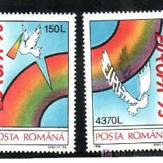 Sellos: RUMANIA 4244/5 SIN CHARNELA, TEMA EUROPA. PALOMA, PAZ Y LIBERTAD, . Lote 21325857