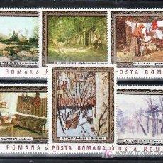 Sellos: RUMANIA 3730/5 SIN CHARNELA, PINTURA, CUADROS DE LOS MUSEOS RUMANOS, . Lote 18355068