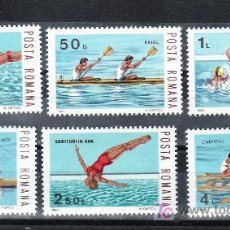 Sellos: RUMANIA 3456/61 SIN CHARNELA, DEPORTE NAUTICOS, KAYAK, CANOA, WATER-POLO, . Lote 21175863