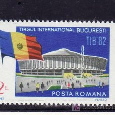 Sellos: RUMANIA 3399 SIN CHARNELA, BANDERA, TIB 82, FERIA INTERNACIONAL EN BUCAREST, . Lote 13922671