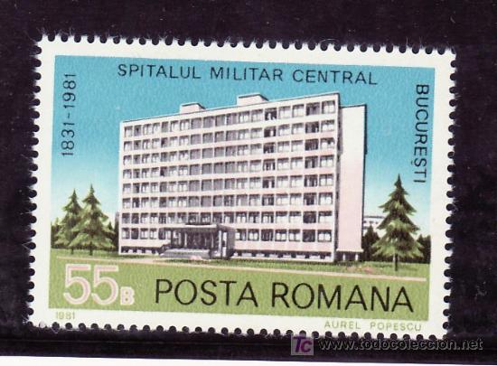 RUMANIA 3348 SIN CHARNELA, MEDICINA, 150º ANIVERSARIO FUNDACION HOSPITAL MILITAR CENTRAL BUCAREST, (Sellos - Extranjero - Europa - Rumanía)