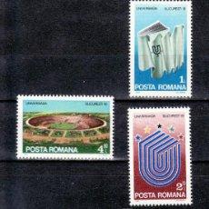 Sellos: RUMANIA 3337/9 SIN CHARNELA, DEPORTE, UNIVERSIADA 81, JUEGOS UNIVERSITARIOS EN BUCAREST, . Lote 13922968