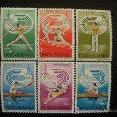 Sellos: RUMANIA 1980 IVERT 3289/94 *** JUEGOS OLIMPICOS DE MOSCU - DEPORTES. Lote 19681701