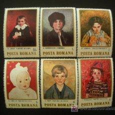 Sellos: RUMANIA 1984 IVERT 3535/40 *** PINTURAS RUMANAS - CUADROS DE NIÑOS. Lote 18503934