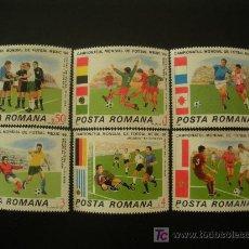 Sellos: RUMANIA 1986 IVERT 3671/6 *** CAMPEONATO DEL MUNDO DE FÚTBOL - MEXICO 86 (II) - DEPORTES. Lote 14607435