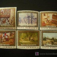Sellos: RUMANIA 1987 IVERT 3730/5 *** CUADROS DE MUSEOS RUMANOS - PINTURA. Lote 14720454