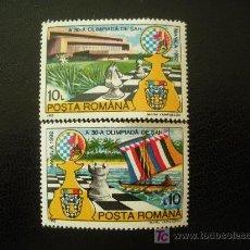 Sellos: RUMANIA 1992 IVERT 4007/8 *** OLIMPIADAS DE AJEDREZ EN MANILA. Lote 14721649