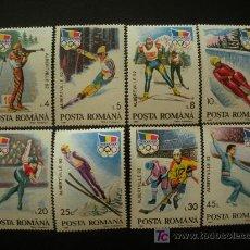 Sellos: RUMANIA 1992 IVERT 3985A/85H *** JUEGOS OLIMPICOS DE INVIERNO - ALBETRVILLE - DEPORTES. Lote 17816305