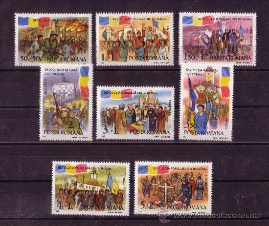 RUMANIA 3896/903** - AÑO 1990 - ANIVERSARIO DEL LEVANTAMIENTO POPULAR RUMANO (Sellos - Extranjero - Europa - Rumanía)
