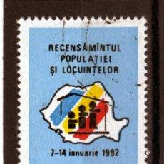 Sellos: ++ RUMANIA / ROMANIA / ROUMANIE AÑO 1991 YVERT NR. 3957 USADA CENSO DE POBLACIÓN. Lote 16605920