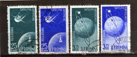 RUMANIA / ROMANIA / ROEMENIE AÑO 1957 C.A. YVERT NR.69/72 USADA COSMOS (Sellos - Extranjero - Europa - Rumanía)