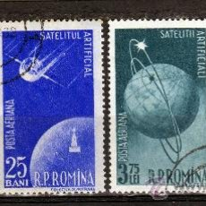 Francobolli: RUMANIA / ROMANIA / ROEMENIE AÑO 1957 C.A. YVERT NR.69/72 USADA COSMOS. Lote 18094868