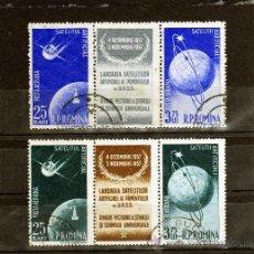 Francobolli: ++ RUMANIA / ROMANIA / ROEMENIE AÑO 1957 C.A. YVERT NR.69/72 USADA TRIPTIC COSMOS. Lote 27252555