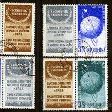 Francobolli: ++ RUMANIA / ROMANIA / ROEMENIE AÑO 1957 C.A. YVERT NR.69/72 USADA CON VIÑETA COSMOS. Lote 27252550
