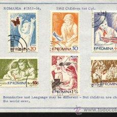 Sellos: SELLOS RUMANIA 1962 TEMAS INFANCIA. Lote 25763900