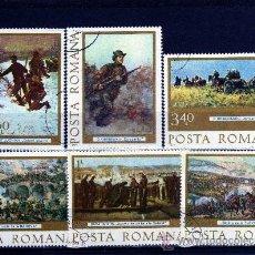 Sellos: ++ RUMANIA / ROMANIA / ROUMANIE AÑO 1977 YVERT NR. 3027/32 USADA PINTURAS. Lote 18613082