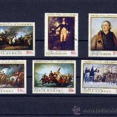 Sellos: ++ RUMANIA / ROMANIA / ROUMANIE AÑO 1976 YVERT NR. 2943/48 USADA PINTURAS. Lote 18613714