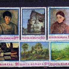 Sellos: ++ RUMANIA / ROMANIA / ROUMANIE AÑO 1974 YVERT NR. 2822/27 USADA PINTURAS. Lote 18667458