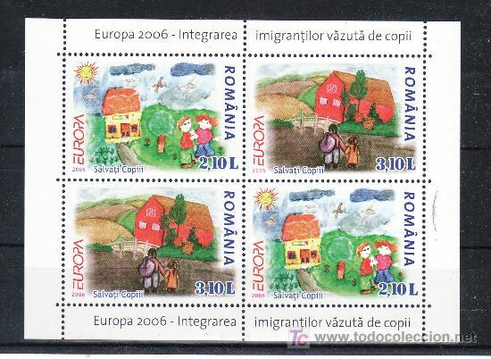 RUMANIA AÑO 2006 SIN CHARNELA, TEMA EUROPA, INTENGRACION, (Sellos - Extranjero - Europa - Rumanía)