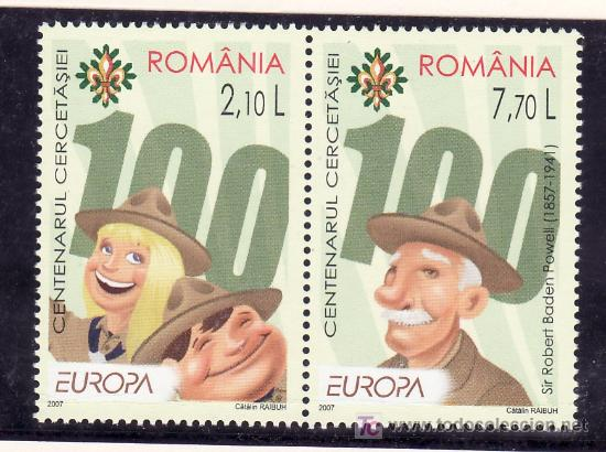 RUMANIA AÑO 2007 SIN CHARNELA, TEMA EUROPA, SCOUTS (Sellos - Extranjero - Europa - Rumanía)