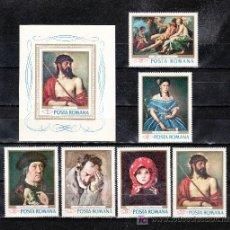 Sellos: RUMANIA 2371/6, HB 66 SIN CHARNELA, PINTURA DE LOS MUSEOS SIBIU Y BUCAREST. Lote 21522722