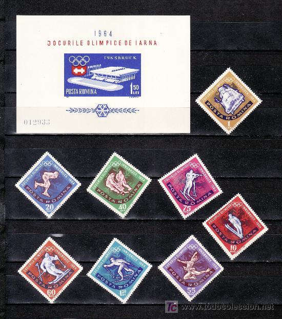 RUMANIA 1976/83, HB 56 SIN CHARNELA, DEPORTE, 9º JUEGOS OLIMPICOS DE INVIERNO EN INNSBRUCK (Sellos - Extranjero - Europa - Rumanía)
