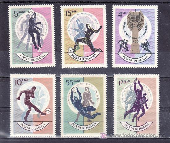 RUMANIA 2254/9 SIN CHARNELA, DEPORTE, COPA DEL MUNDO DE FUTBOL EN LONDRES (Sellos - Extranjero - Europa - Rumanía)