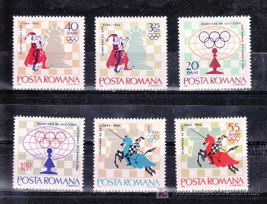 RUMANIA 2193/8 SIN CHARNELA, DEPORTE, 17º TORNEO INTERNACIONAL DE AJEDREZ EN LA HABANA (Sellos - Extranjero - Europa - Rumanía)
