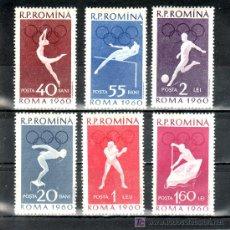 Sellos: RUMANIA 1720/5 CON CHARNELA, DEPORTE, JUEGOS OLIMPICOS DE ROMA, . Lote 20609226