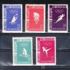 Sellos: RUMANIA 1473/7 SIN CHARNELA, DEPORTE, JUEGOS OLIMPICOS DE MELBOURNE . Lote 19290004