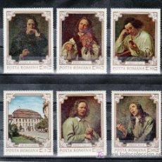 Sellos: RUMANIA 2580/5 CON CHARNELA, PINTURA DEL MUSEO BRUCKENTHAL EN SIBIU . Lote 19144103