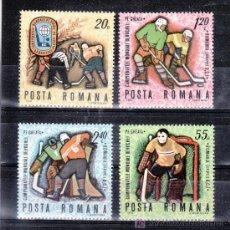 Sellos: RUMANIA 2513/6 SIN CHARNELA, DEPORTE, CAMPEONATO DEL MUNDO DE HOCKEY SOBRE HIELO EN BUCAREST. Lote 19144614