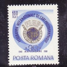 Selos: RUMANIA 2414 SIN CHARNELA, FOTOGRAFIA, 20 ANIVº DE LA FEDERACION INTERNACIONAL DEL ARTE FOTOGRAFICO. Lote 19181553
