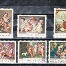 Sellos: RUMANIA 2408/13 SIN CHARNELA, PINTURA DE LA GALERIA NACIONAL DE BUCAREST. Lote 19181582