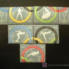 Sellos: RUMANIA 1960 IVERT 1710/4 *** JUEGOS OLIMPICOS DE ROMA (I) - DEPORTES. Lote 19407406