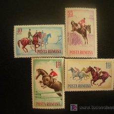 Selos: RUMANIA 1964 IVERT 2009/12 *** DEPORTES HIPICOS - CABALLOS. Lote 20035733