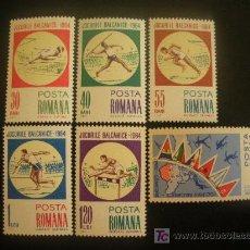 Sellos: RUMANIA 1964 IVERT 2040/5 *** JUEGOS BALCANICOS EN BUCAREST - DEPORTES. Lote 20035816