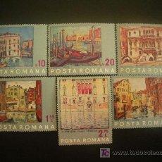 Sellos: RUMANIA 1972 IVERT 2713/8 *** SALVEMOS VENECIA - PINTURA. Lote 29310541