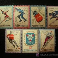 Sellos: RUMANIA 1967 IVERT 2329/35 *** JUEGOS OLIMPICOS DE INVIERNO DE GRENOBLE - DEPORTES. Lote 21155482