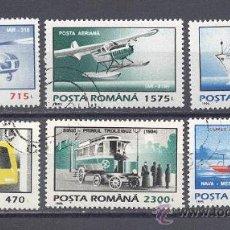 Sellos: RUMANIA, 1995 MEDIOS DE TRANSPORTE, NUEVOS,PREOBLITERADOS. Lote 26208764