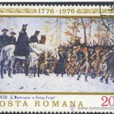 Sellos: RUMANIA - 1976 - (YV. - 2943 ) ( USADO ) BICENTENARIO DE LA INDEPENDENCIA DE LOS ESTADOS UNIDOS. Lote 22763294