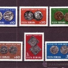 Selos: RUMANIA 2543/48*** - AÑO 1970 - NUMISMATICA - MONEDAS ANTIGUAS. Lote 22819579