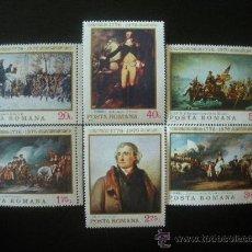 Sellos: RUMANIA 1976 IVERT 2943/8 *** BICENTENARIO DE LA INDEPENDENCIA DE LOS ESTADOS UNIDOS - PINTURA. Lote 23594911